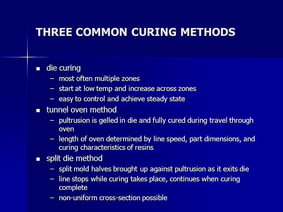 THREE COMMON CURING METHODS