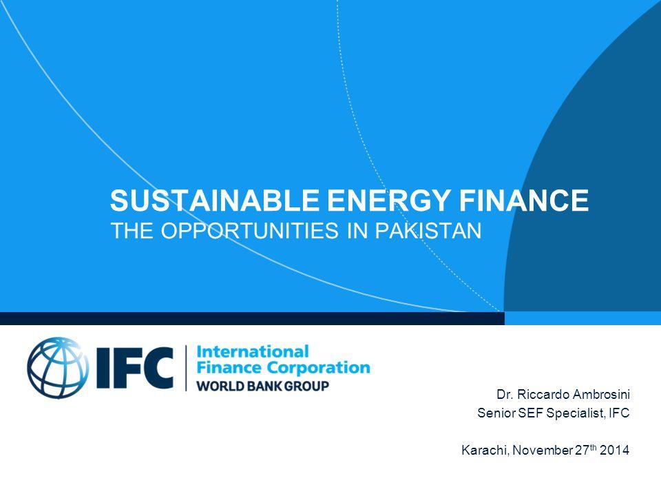 Sustainable Energy Finance