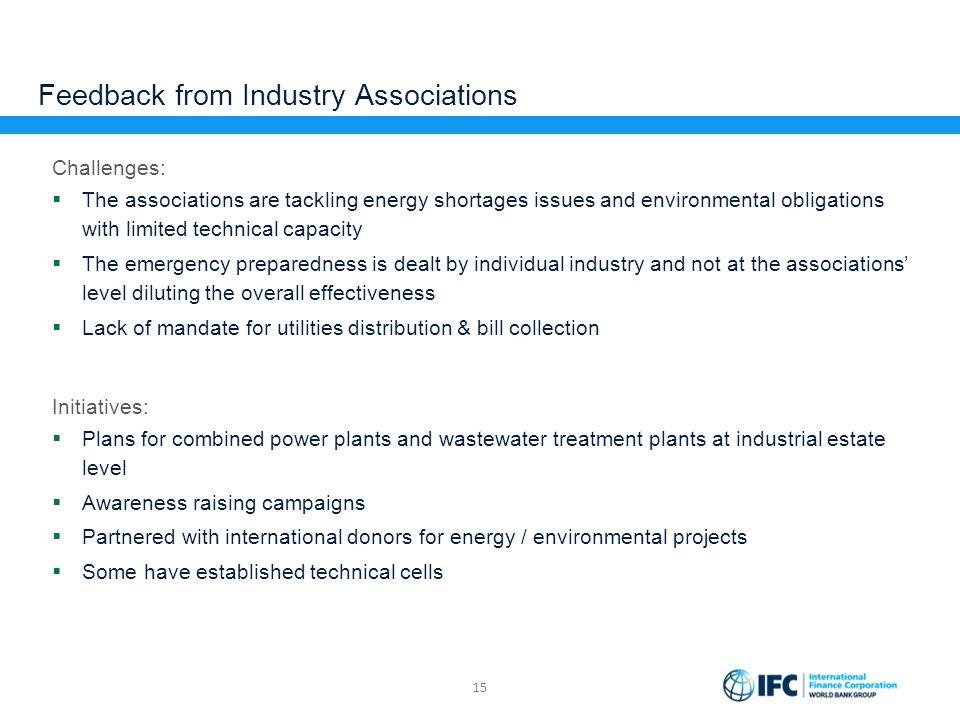 Feedback from Industry Associations