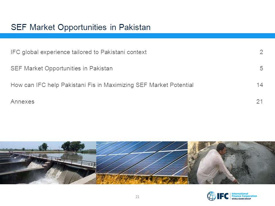 SEF Market Opportunities in Pakistan