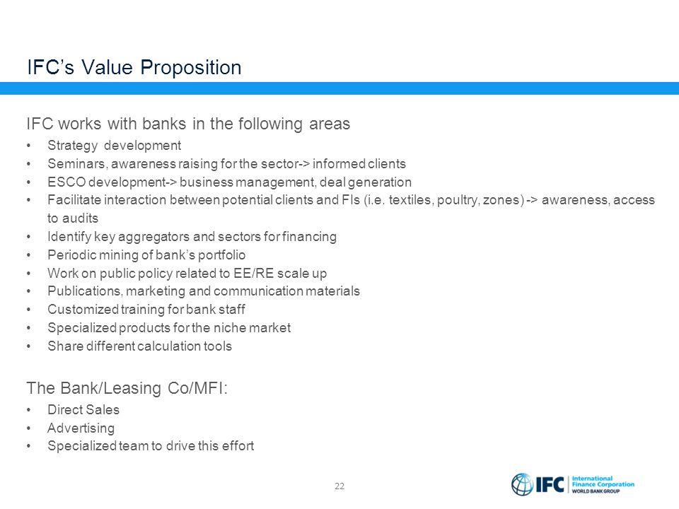 IFC's Value Proposition