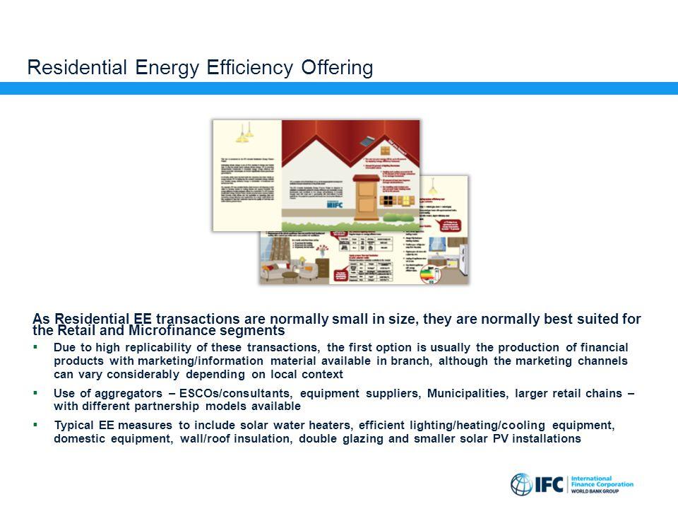 Residential Energy Efficiency Offering