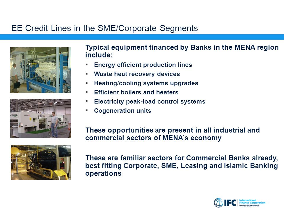 EE Credit Lines in the SME/Corporate Segments