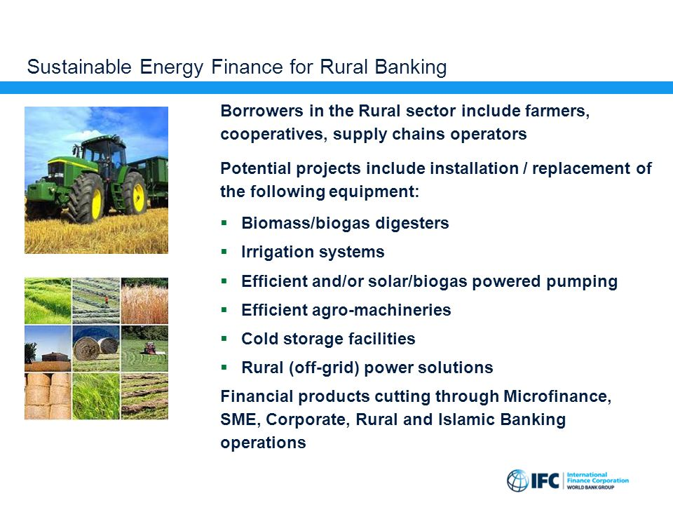 Sustainable Energy Finance for Rural Banking