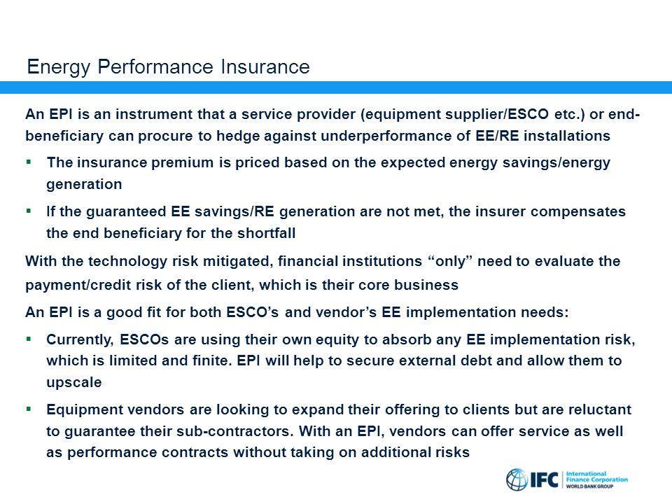 Energy Performance Insurance