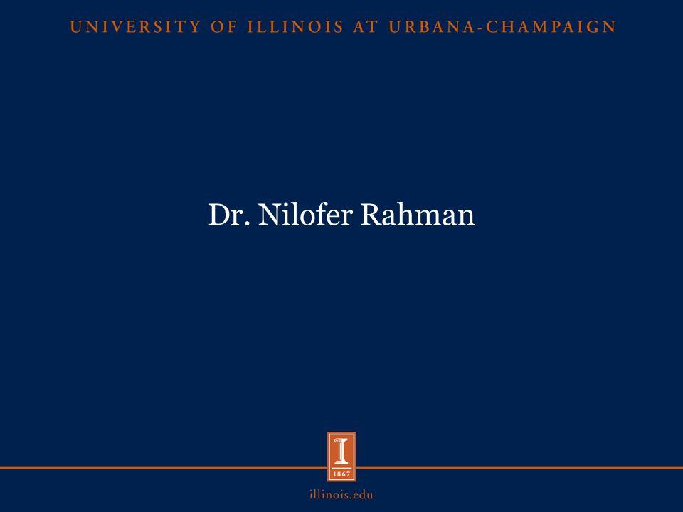 Dr. Nilofer Rahman