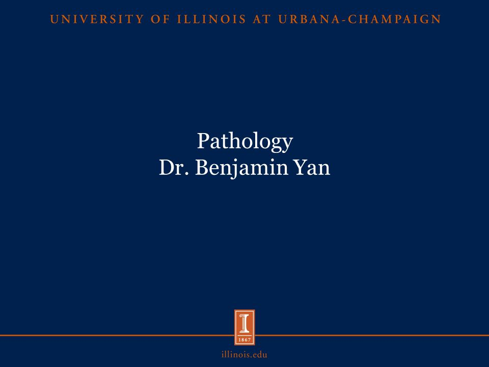 Pathology Dr. Benjamin Yan