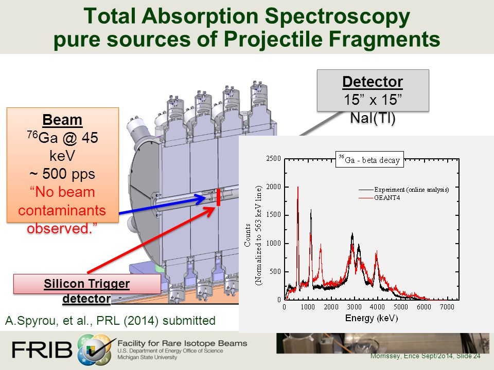 Total Absorption Spectroscopy pure sources of Projectile Fragments