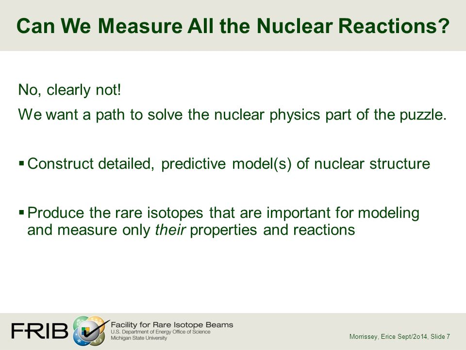 Can We Measure All the Nuclear Reactions