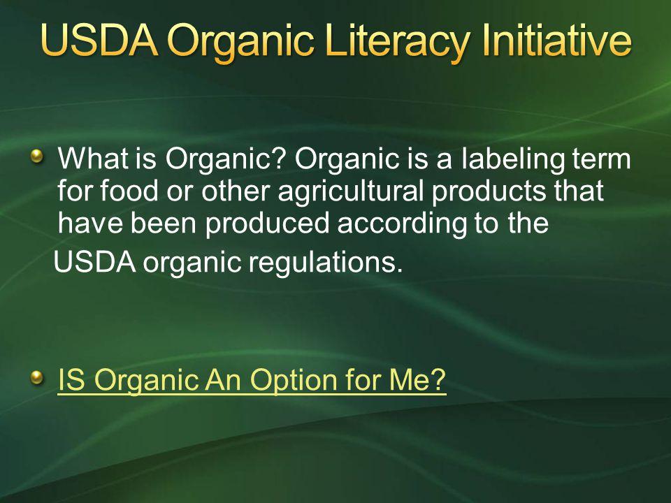 USDA Organic Literacy Initiative