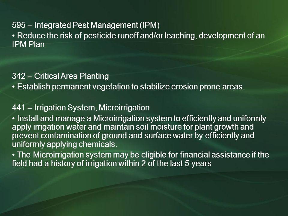 595 – Integrated Pest Management (IPM)