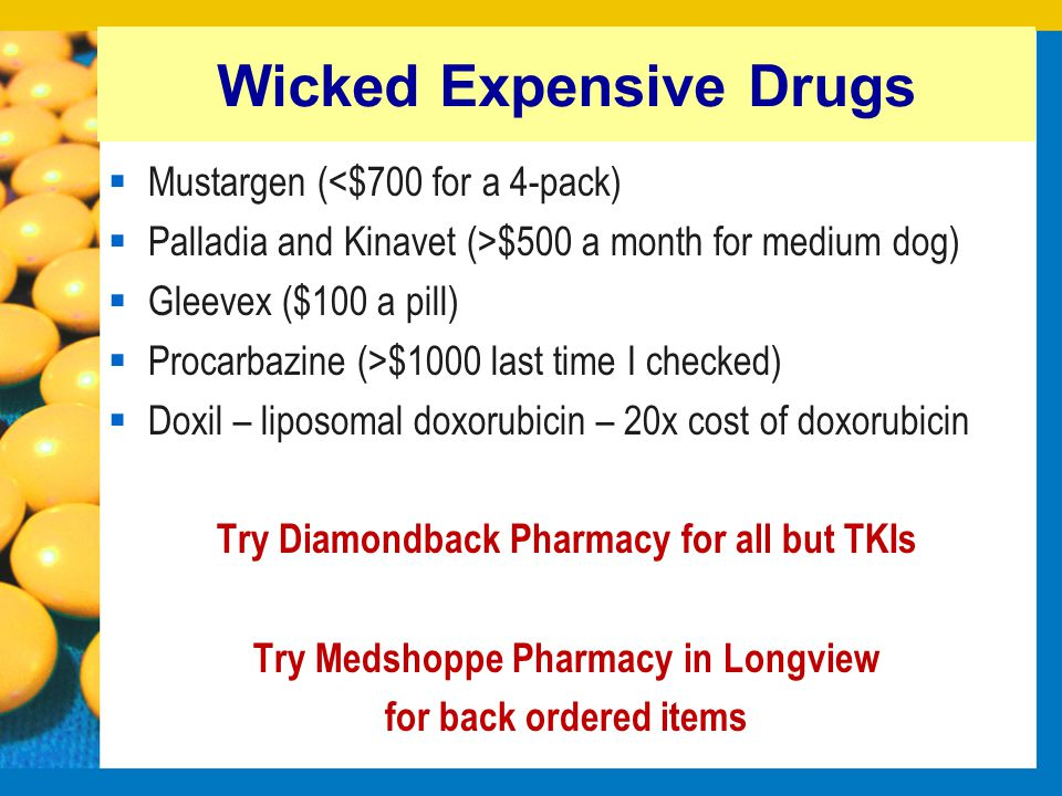 Wicked Expensive Drugs