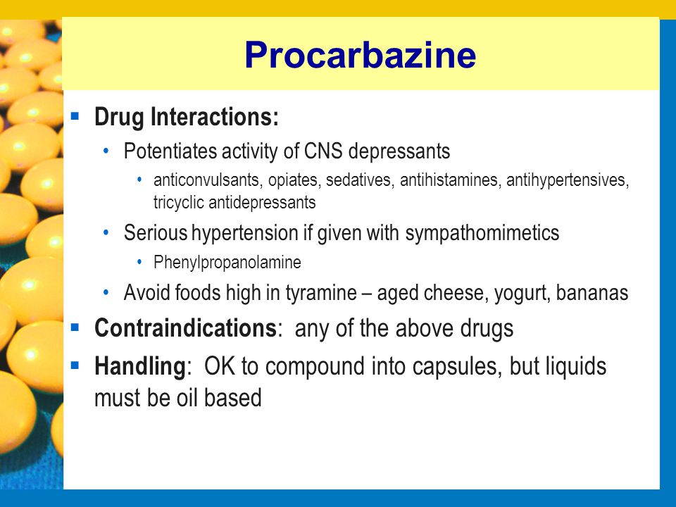 Procarbazine Drug Interactions: