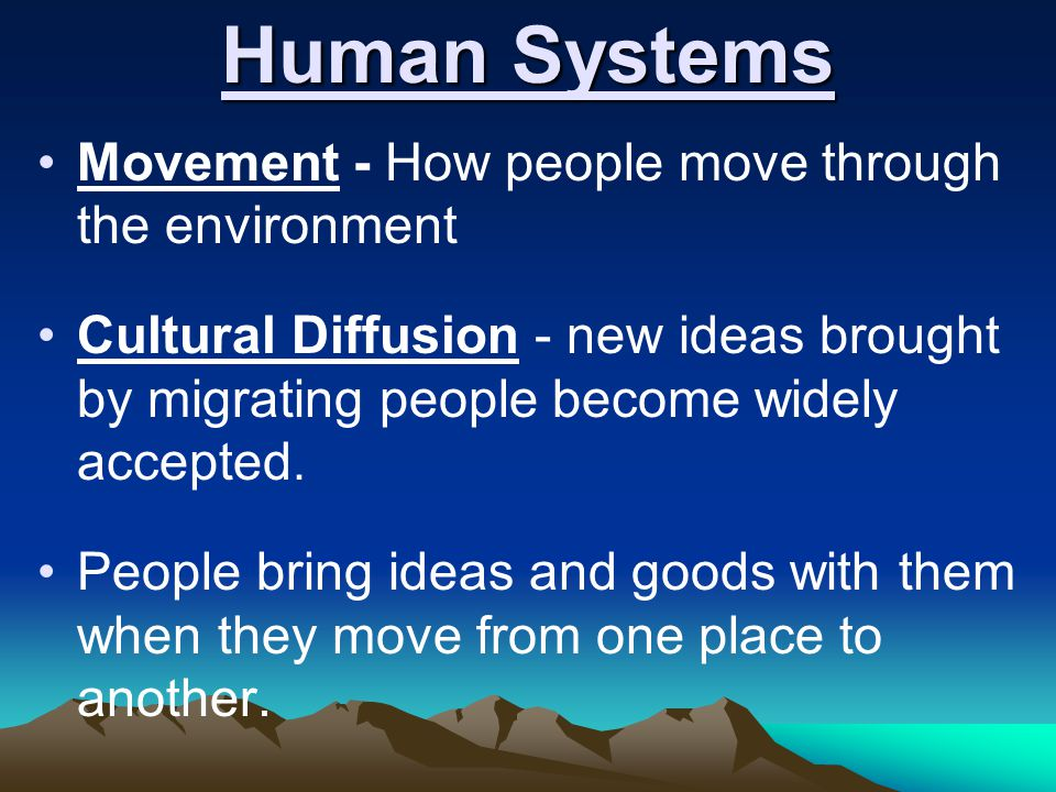 Human Systems Movement - How people move through the environment