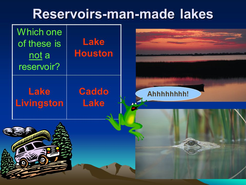 Reservoirs-man-made lakes