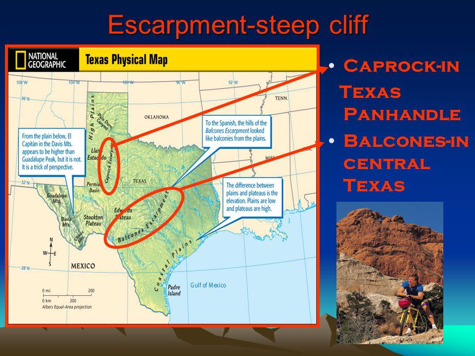 Escarpment-steep cliff