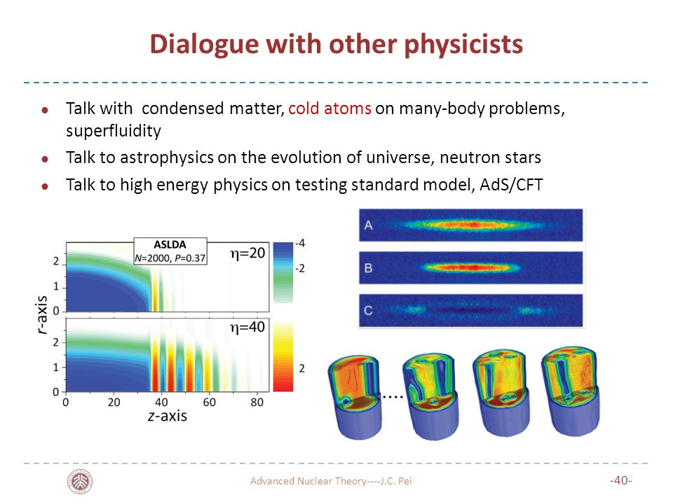 Dialogue with other physicists