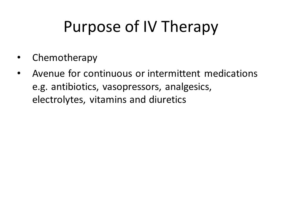 Purpose of IV Therapy Chemotherapy