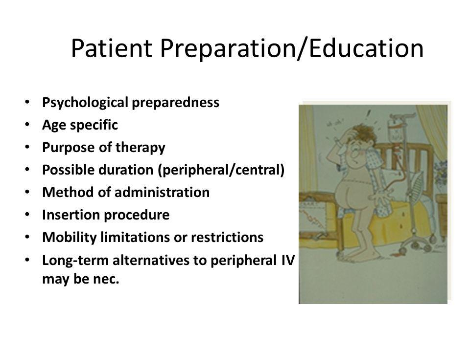 Patient Preparation/Education