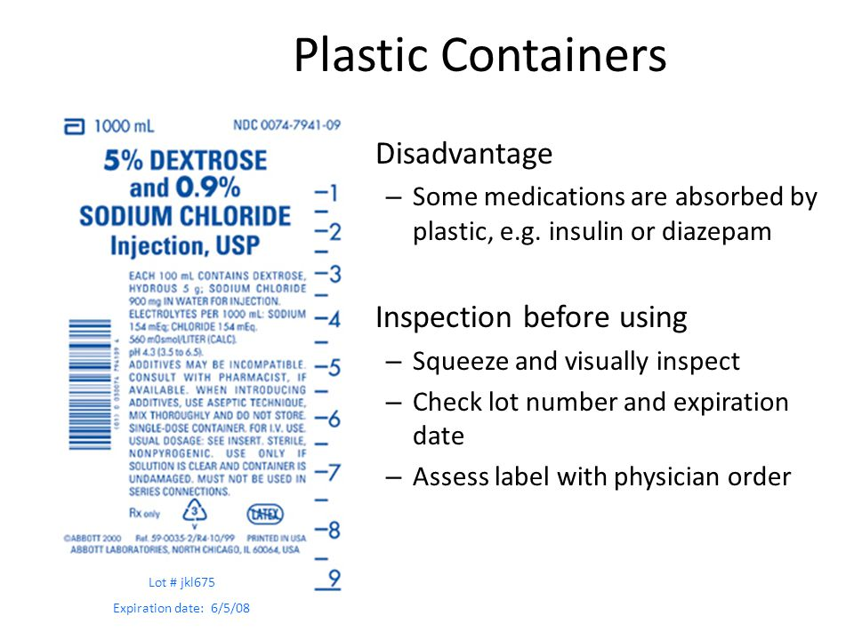 Plastic Containers Disadvantage Inspection before using