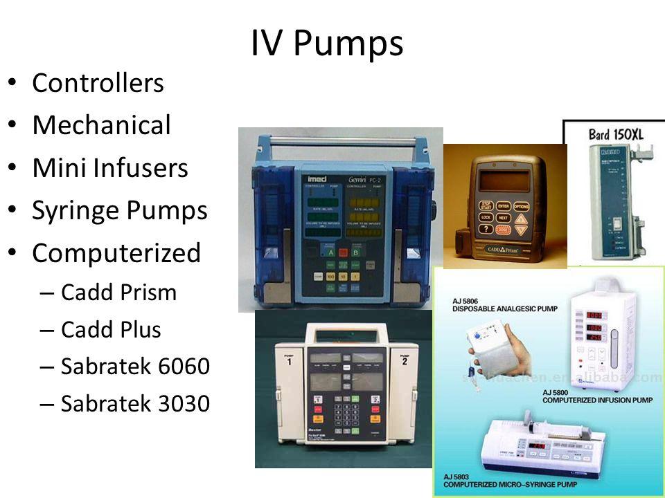 IV Pumps Controllers Mechanical Mini Infusers Syringe Pumps