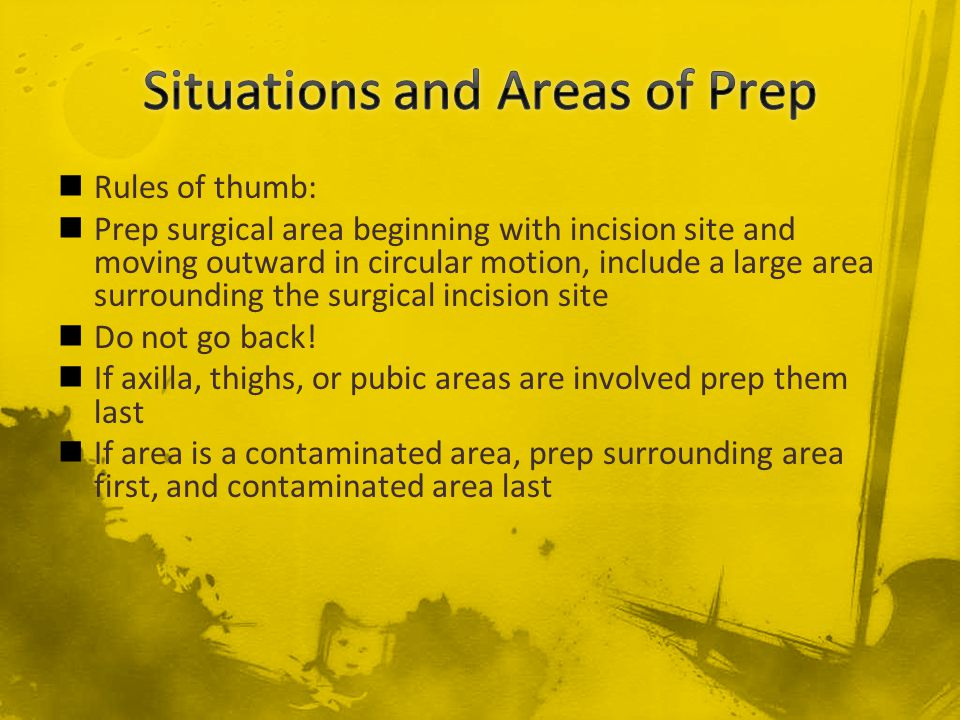 Situations and Areas of Prep