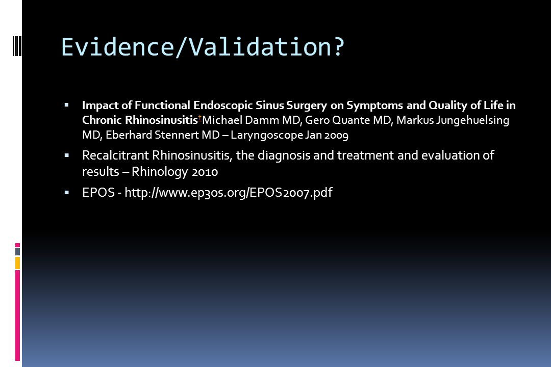 Evidence/Validation