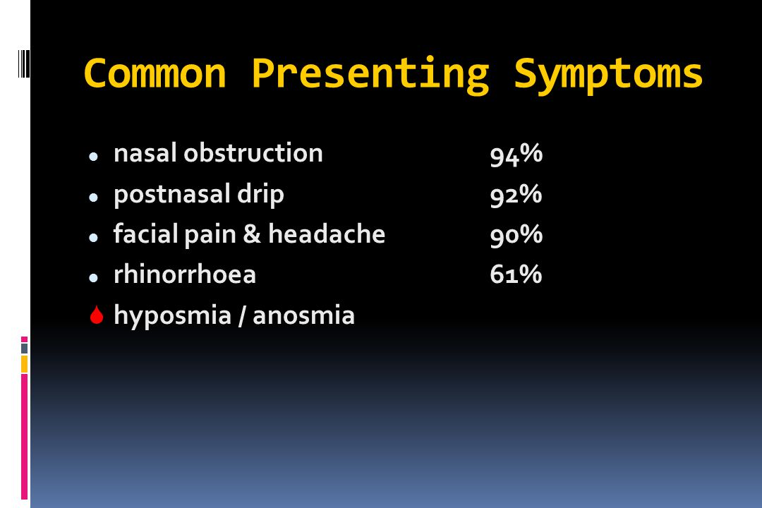 Common Presenting Symptoms