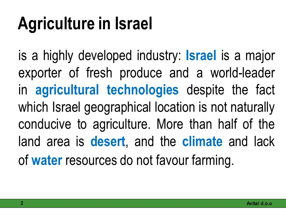 Agriculture in Israel