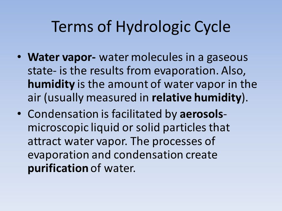 Terms of Hydrologic Cycle