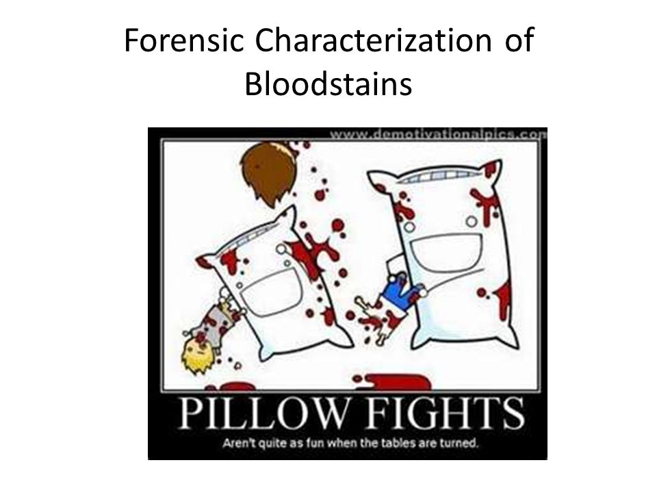 Forensic Characterization of Bloodstains