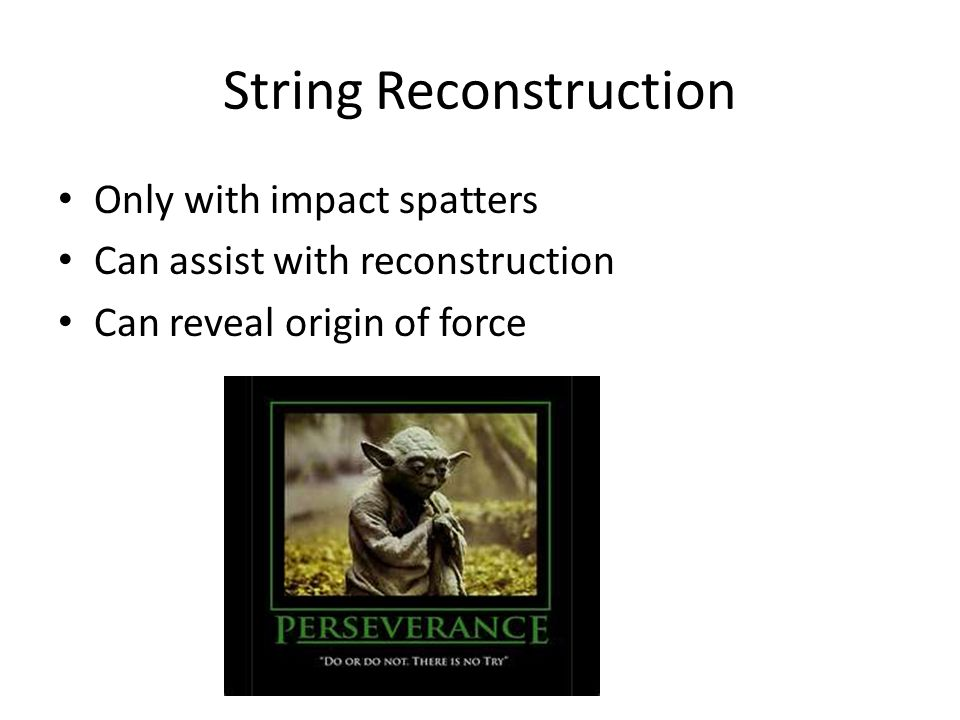 String Reconstruction