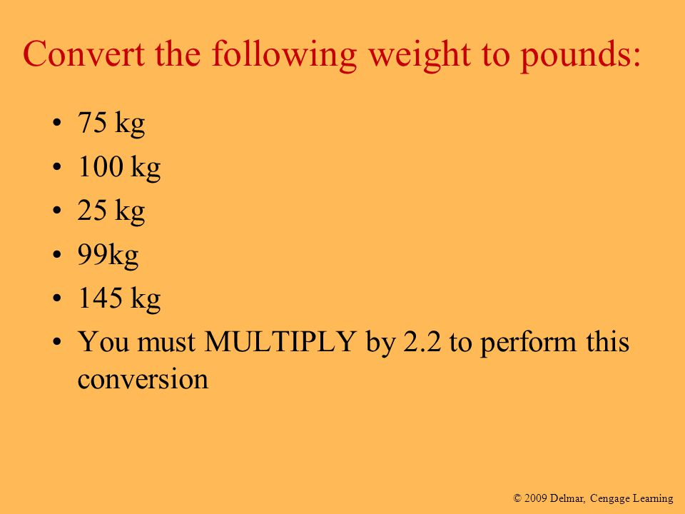 Convert the following weight to pounds: