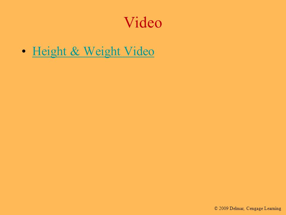 Video Height & Weight Video