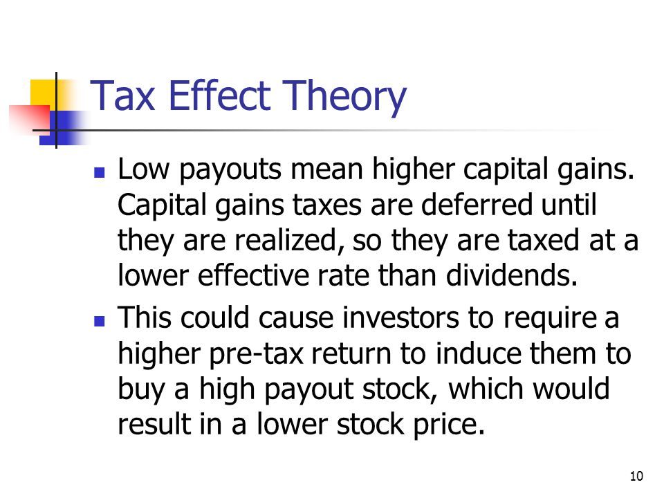 Tax Effect Theory