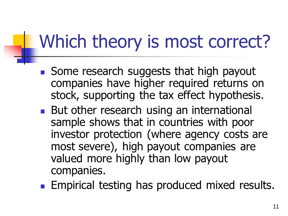 Which theory is most correct