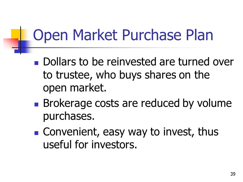 Open Market Purchase Plan