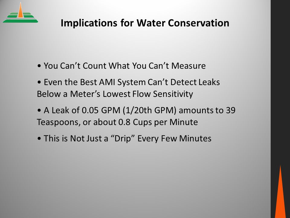 Implications for Water Conservation