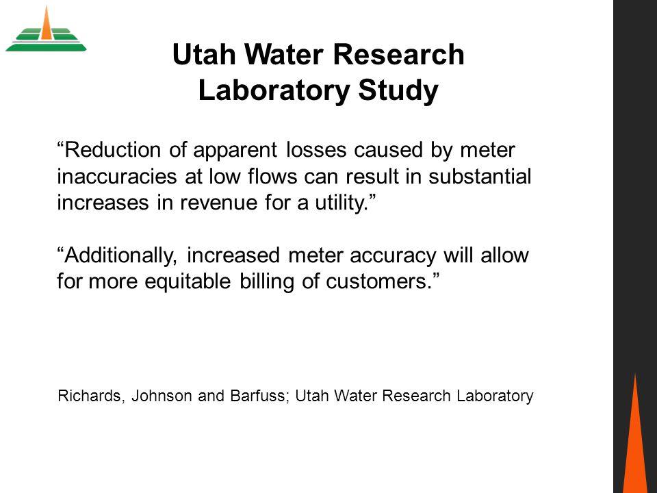 Utah Water Research Laboratory Study