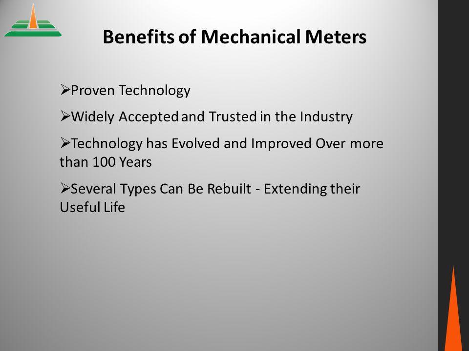 Benefits of Mechanical Meters