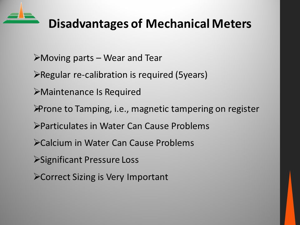 Disadvantages of Mechanical Meters
