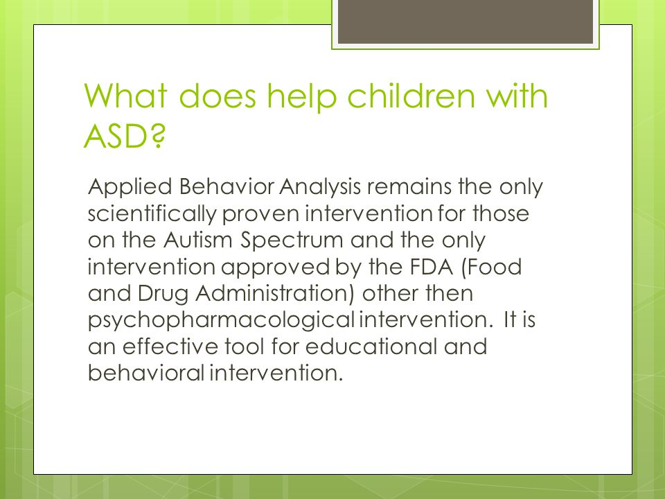 What does help children with ASD