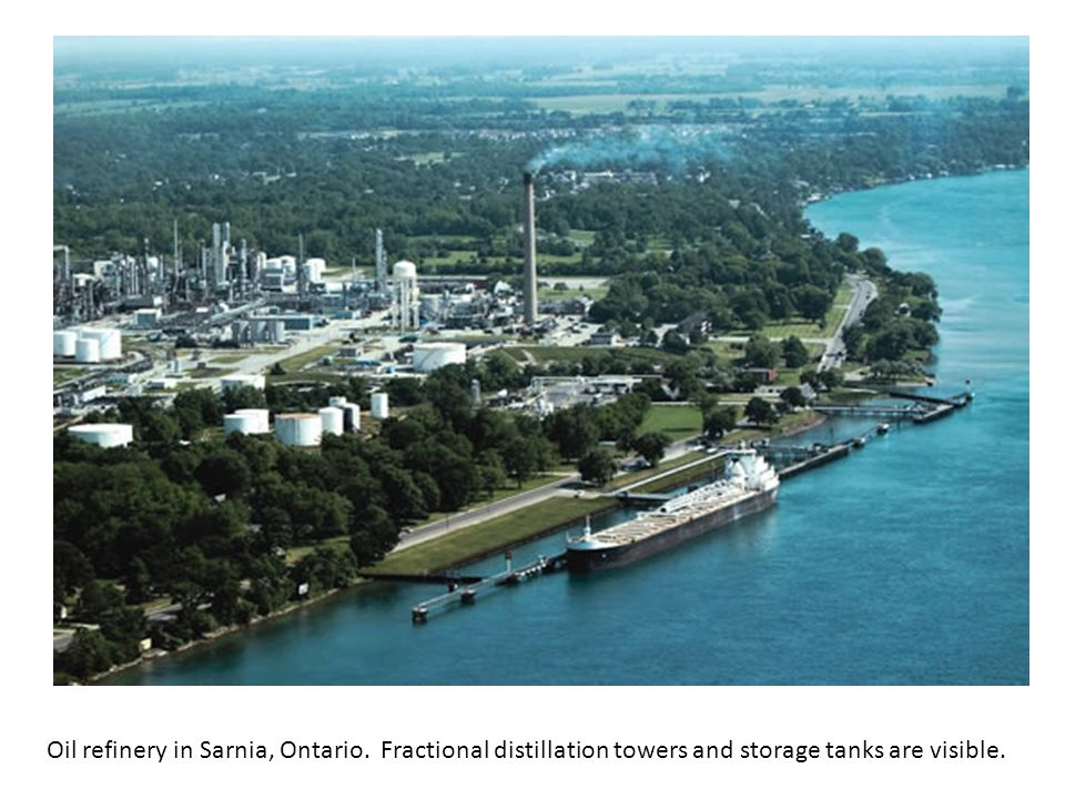 Oil refinery in Sarnia, Ontario