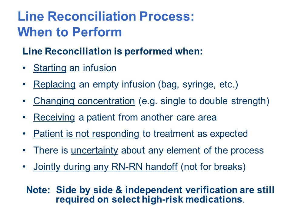 Line Reconciliation Process: When to Perform