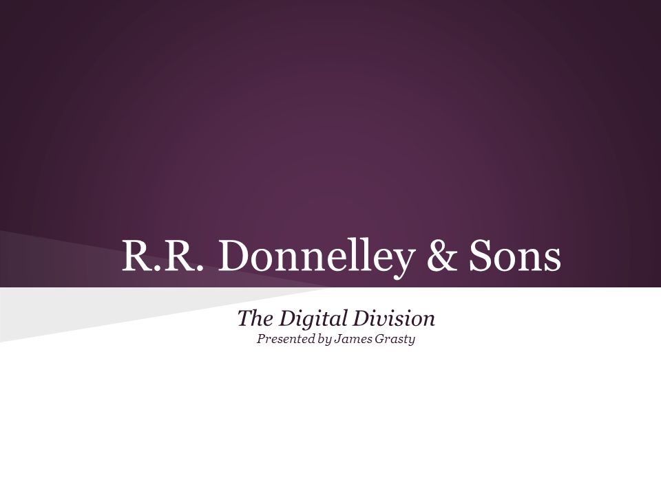 The Digital Division Presented by James Grasty