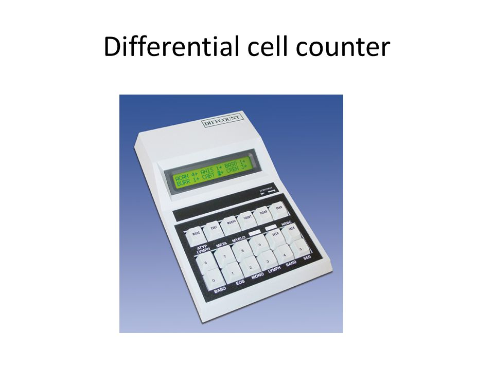 Differential cell counter