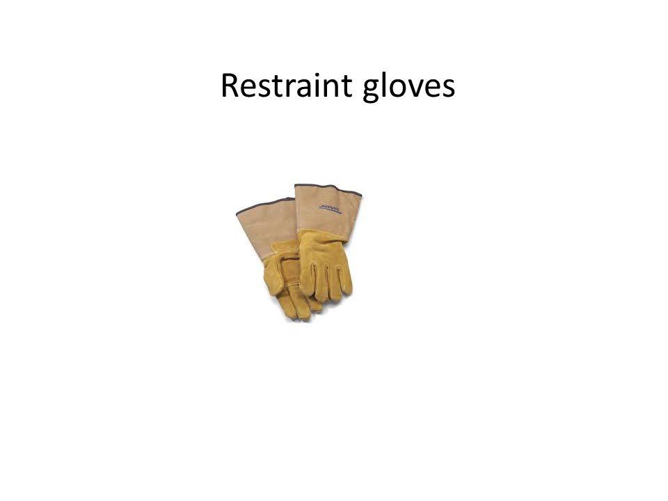 Restraint gloves