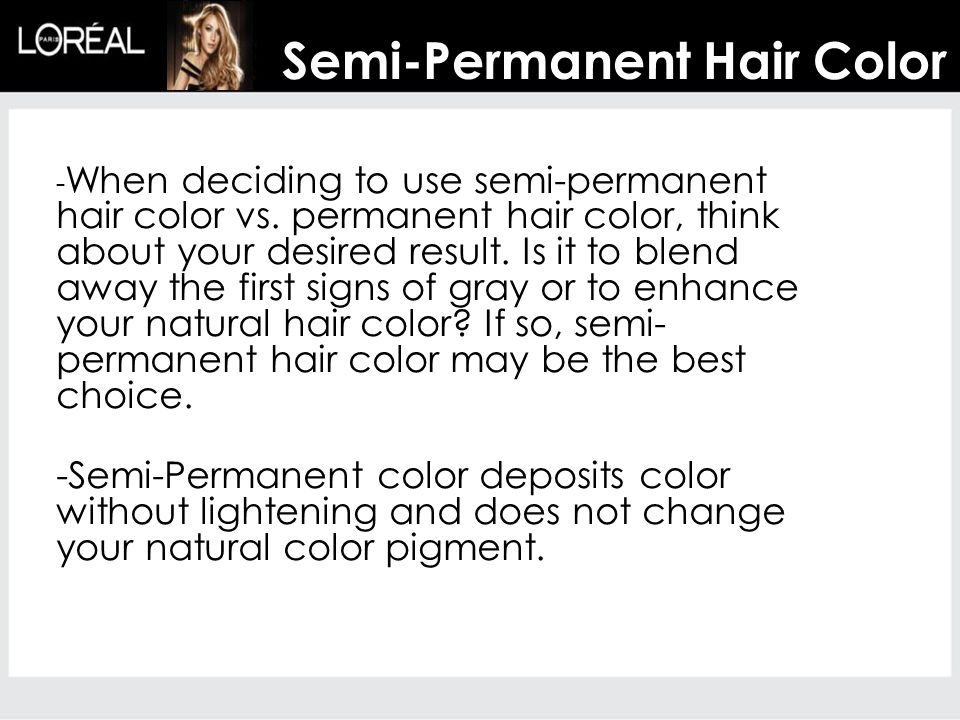 Semi-Permanent Hair Color