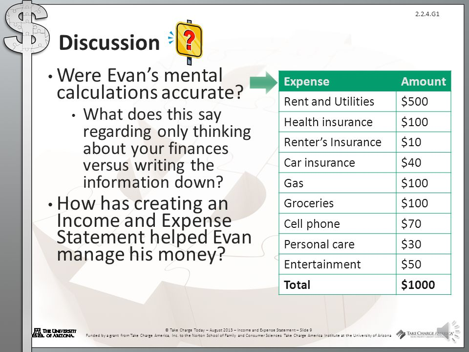 Discussion Were Evan's mental calculations accurate
