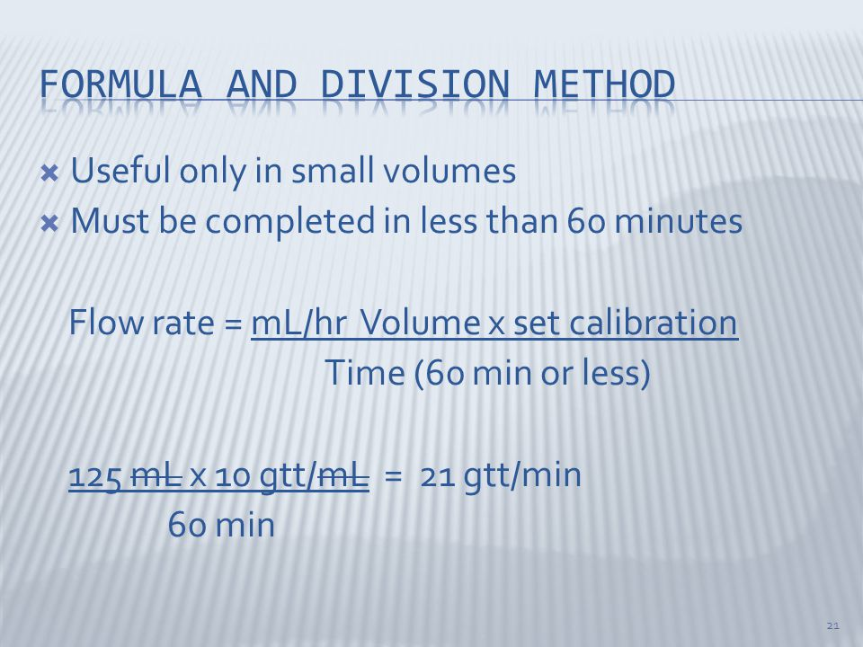 Formula and division method